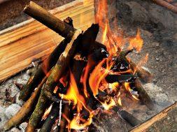 building a campfire